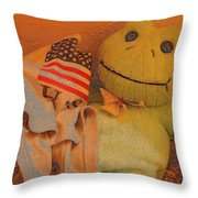 Film Homage The Muppet Movie 1979 Number 1 Froggie Colored Pencil American Flag Casa Grande Az 2004 Throw Pillow
