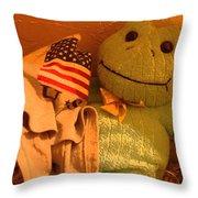 Film Homage The Muppet Movie 1979  Number 2 Froggie Smudge Stick Casa Grande Az 2004-2009 Throw Pillow