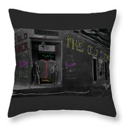 Film Homage The Quiet Man 1952 The Old Corner Saloon  Red Light District Tucson Arizona C.1880-2008  Throw Pillow
