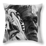 Film Homage The Yaqui 1916 Pascola Dancer New Pascua Arizona 1969-2008   Throw Pillow