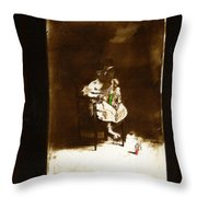 Film Homage Tod Browning Freaks 1932 Child With Doll The Devil Doll 1936 1890's-2008 Throw Pillow