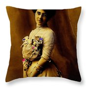 Film Homage William Wyler Olivia De Havilland  Ralph Richardson The Heiress 1949 1880's-2008 Throw Pillow