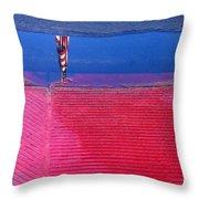 Film Noir  Angela Lansbury The Manchurian Candidate 1962 Flag Water Reflection Casa Grande Az 2005 Throw Pillow