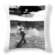 Film Noir Born To Kill 1947 2 Mike Bowan Fast Draw Artist Tucson Arizona 1974 Black And White Throw Pillow