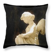 Film Noir Cinematographer Harry Wild Claire Trevor Johnny Angel 1945 Statue Arizona City Az 2005 Throw Pillow