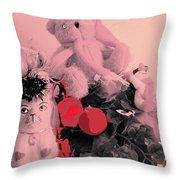 Film Noir Deanna Durbin Christmas Holiday 1944 Xmas Decorations Casa Grande Arizona 2005  Throw Pillow