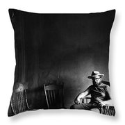 Film Noir Dick Powell  Cornered 1945 2 Self Portrait Antlers Hotel Ghost Town Victor Colorado 1971  Throw Pillow