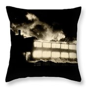 Film Noir Fritz Lang Glenn Ford  The Big Heat 1953 Out Of Control Fire Aberdeen South Dakota 1964 Throw Pillow