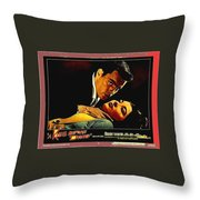 Film Noir Gerd Oswald Robert Wagner A Kiss Before Dying 1956 Poster Color Toning Added 2008 Throw Pillow