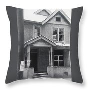 Film Noir Its A Wonderful Life 1947 Never Been Born Section Condemned House Minneapolis 1966 Throw Pillow