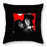 Film Noir Jane Greer Robert Mitchum Out Of The Past 1947 Rko Color Added 2012 Throw Pillow