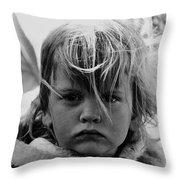 Film Noir Jean Simmons Robert Mitchum Rko Angel Face 1953 Demolition Derby Tucson Arizona 1968 Throw Pillow