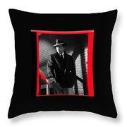 Film Noir John Huston Humphrey Bogart The Maltese Falcon 1941 Color Added 2012 Throw Pillow