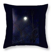 Film Noir Joseph H Lewis So Dark The Night 1946 Moon Trees Casa Grande Arizona 2000 Throw Pillow