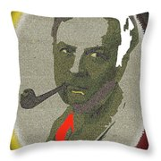 Film Noir Mystery Writer Raymond Chandler Vignetted Texture Color Added 2013 Throw Pillow