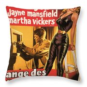 Film Noir Poster  The Burglar Jane Mansfield Throw Pillow