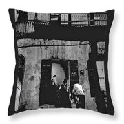 Film Noir Richard Widmark Panic In The Streets 1950 New Orleans Publicity Photo Black And White Throw Pillow