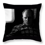 Film Noir Robert Duvall The Outfit 1973 Pursuit Of D.b. Cooper Set Trailer Tucson Arizona 1980-2008 Throw Pillow