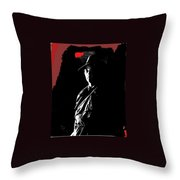 Film Noir Robert Mitchum In Trench Coat At Rko Radio 1 C.1947 Color Added 2013 Throw Pillow