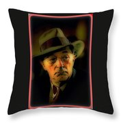 Film Noir Robert Mitchum Philip Marlowe Farewell My Lovely 1975 Publicity Photo Color Added 2013 Throw Pillow