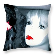 Film Noir Stanley Kubrick Frank Silvera Killer's Kiss 1955 Mannequin Casa Grande Arizona 2006  Throw Pillow