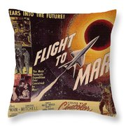 Film Poster Flight To Mars Throw Pillow