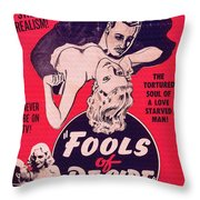 Film Poster Fools Of Desire 1930s Throw Pillow
