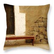 Village Doorway Throw Pillow