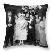 Film Still: By Golly, 1920 Throw Pillow