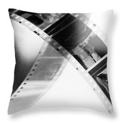 Film Strip Throw Pillow by Tommytechno Sweden