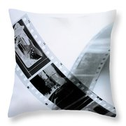 Film Strips Throw Pillow by Tommytechno Sweden