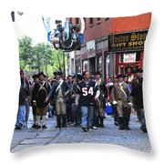 Filming New England Patriots Commercial Throw Pillow