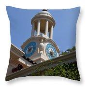 Filoli Garden Clock Tower Throw Pillow