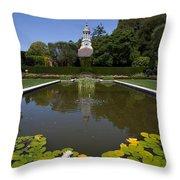 Filoli Garden Pond Throw Pillow