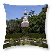 Filoli Garden With Pond Throw Pillow