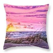 Filtered Beach Throw Pillow