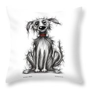 Filthy Fred Throw Pillow by Keith Mills