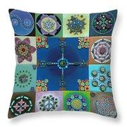 Fimo Mandala Throw Pillow