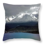 Fin Del Mundo Throw Pillow