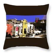Final Days Of San Agustine Cathedral 1863-1936 Circus Poster Tucson Arizona 1936-2013 Throw Pillow