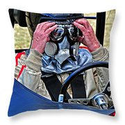 Final Prerace Preperations Throw Pillow