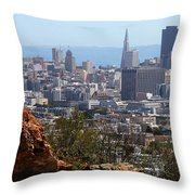 Financial District From Corona Heights Throw Pillow