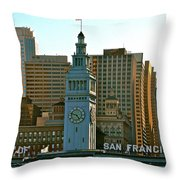 Financial District Lower Market Street San Francisco Throw Pillow