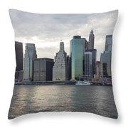 Financial District Skyline Throw Pillow