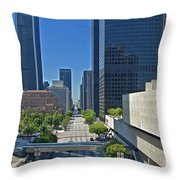 Financial District Skyscrapers California Plaza Throw Pillow