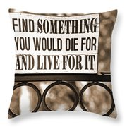 Find Something Throw Pillow