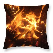 Find The Face Throw Pillow