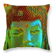 Finding Buddha - Meditation Art By Sharon Cummings Throw Pillow by Sharon Cummings