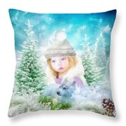 Finding Santa Throw Pillow by Mo T