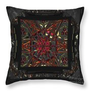 Finding The Light Mandala Throw Pillow